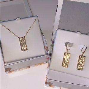 NIB Crystal Pendant Swarovski Necklace & Earrings